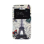 Transmission Tower Pattern PU Leather Phone Case fo Alcatel C7