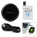Minismile™ Newest Top Quality Wireless Charger Charging Pad + Wireless Charger Receiver for Samsung Galaxy S4 / I9500