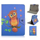 Owl and Pentagram Pattern High Quality PU Leather with Stand Case for 10 Inch Universal Tablet