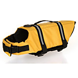Oxford Cloth Yellow Life Jacket for Dogs S