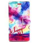 Painted Pattern PU Leather Full Body Case with Card Slot and Stand for Sony Xperia M2