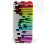 Matches Pattern TPU Painted Soft Back Cover for iPhone 6