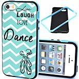 2-in-1 live love modello danza TPU indietro con il pc del respingente custodia morbida antiurto per iPhone 5 / 5s