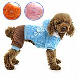 petsoo Winter Hund Kleidung Rose Kristall Samt vierbeinigen Haustiermantel