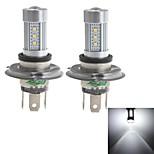 zweihnder h4 15w 1450lm 6000-6500k 15x2323 SMD LED branca lâmpada para foglight carro (10-30 V, 2 peças)