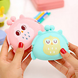 Candy Color Owl Pattern Silica Gel Change Purse(Random Color)