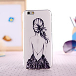 Gril Figure Painting Ultrathin TPU with Plastic for iPhone 6