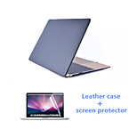 High Qaulity PU Leather Case and HD Screen Protector for Macbook Air 11.6 inch (Assorted Colors)