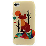 Fox  Pattern TPU Phone Case for iPhone 4/4S