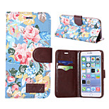 Flowers Pattern Horizontal Flip Leather Case with Card Slots & Holder