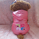 Holdhoney Pink/Purple Conjoined With Hood Winter Coat For Pets Dogs (Assorted Sizes, Colors) #LT15050171