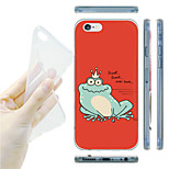 Frog Prince Painting Pattern TPU Soft Back Case for iPhone 6/6S