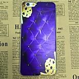 Blue Cushion Pattern TPU Soft Back Case for iPhone 6