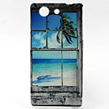 Coconut Tree Pattern TPU Material Soft Phone Case for Sony Z3 Mini