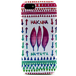 Fashion Design COCO FUN® Feather Tribal Pattern Soft TPU IMD Back Case Cover for iPhone 5/5S