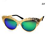Women 's Mirrored 100% UV400 Cat-eye Sunglasses