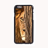 Lion Behind The Tree Design Aluminum Hard Case for iPhone 6
