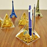 Pyramid Shaped Pen Holder Novelty Desktop Stationery (Random Color)