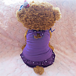 Holdhoney Purple/Red/Blue Cotton Skirt With Shoulder-Straps For Pets Dogs (Assorted Sizes, Colors) #LT15050164