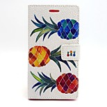 Pineapple Pattern PU Leather Material Card Full Body Case for Sony Xperia M2