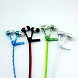 cor zipper fone de ouvido fio concha de metal 100 centímetros doulbe para iphone 5/6 samsung S5 / 5 telefones inteligentes
