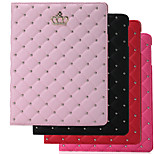 Folding Rhombus PU Leather Case with Stand for iPad 2/3/4 (Assorted Colors)