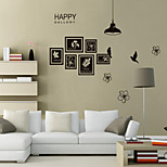 Wall Stickers Wall Decals Style Under The Light Flower And Bird PVC Wall Stickers