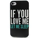 Letter Pattern TPU Material Soft Phone Case for iPhone 4/4S