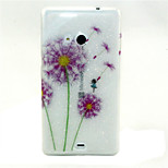 Color Dandelion Pattern Glitter TPU Cell Phone Soft Shell For Nokia Lumia N535 / Microsoft Lumia 535