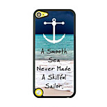 Sea Wave Leather Vein Pattern Hard Case for iPod touch 5