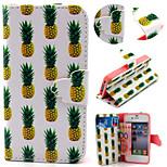 ananas modèle avec sac de carte de cas complète du corps pour iPhone 4 / 4S