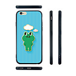 Cartoon Frog Pattern Transparent Silica Gel Edge Back Case for iPhone 6