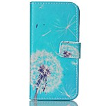 Fashio Design COCO FUN® Blue Bottom Dandelion Pattern PU Full Body Leather Case Cover for iPhone 6