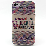 WORLD  Pattern TPU Phone Case for iPhone 4/4S