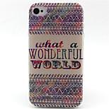 modello mondo cassa del telefono TPU per il iPhone 4 / 4s