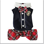 Red/Black Campus Style Pet Clothes Cotton Pants For Dogs