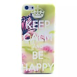 Butterfly Letter Pattern PC Material Phone Case for iPhone 5C