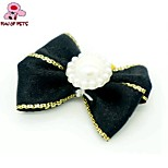 FUN OF PETS®  Elegant Ribbon Style Pearl Decorated Rubber Band Hair Bow for Pet Dogs  (Random Color)