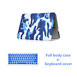 Fashion Camouflage Full Body Case with Silicone Keyboard Cover for Macbook Air 11.6