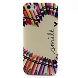 Crayon Love Pattern TPU Material Phone Case for iPhone 5/5S