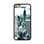 Bustling Metropolis Leather Vein Pattern Hard Case for iPod touch 5
