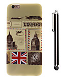 Stamps Pattern TPU Soft Back and A Stylus Touch Pen for iPhone 6