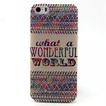 Wonderful World Pattern TPU Painted Soft Back Cover for iPhone 5/5S
