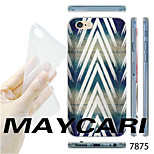 White Stripes Pattern Transparent TPU Soft Back Case for iPhone 6