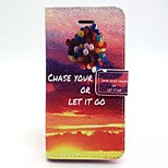 Balloon Pattern PU Leather Material Card Full Body Case for iPhone 5/5S