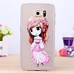 Flower Girl Pattern TPU Case for Samsung Galaxy S6