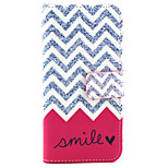 Wavy  Pattern PU Leather Phone Case For iPhone 6
