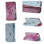 Happy Butterflies Double Side Pattern Leather PU Cover Case with Stand for iPhone 6G