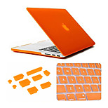 3 in 1 Matte Case with Keyboard Cover and Silicone Dust Plug for Macbook Retina 15.4 inch (Assorted Colors)