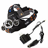 Others 4 Mode 6000Lumens Headlamps/Headlamp Straps 18650 Waterproof/Rechargeable/Night Vision LED Cree XM-L T6